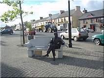 N5390 : Statue of Percy French  in the Town Square of Ballyjamesduff. by Eddie Mellor