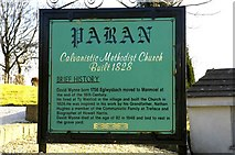 SO1703 : Historical sign for Paran Church Manmoel by Peter Hutchings