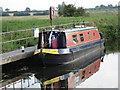 TL5065 : Canal Boat on River Cam at Bottisham Lock by Roy Turner