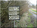 ST4889 : Old road sign, Crick by Ruth Sharville