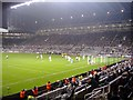 NZ2464 : Floodlit match at St James's Park by Roger Cornfoot