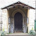 SP6733 : Porch, St. John the Evangelist, Radclive by Rob Farrow