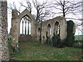 TM1685 : Inside the Ruins of Tivetshall St .Mary Church by Ian Robertson