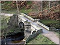 SK1695 : Slippery Stones Pack Horse Bridge by John Fielding