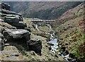 SE0531 : The Borders Bridge, Ogden Clough by Paul Glazzard