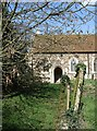 SP9529 : St. Mary's - Path through churchyard to porch by Rob Farrow