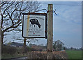 SJ6963 : Farm Sign, Occlestone Green by michael ely