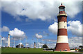 SX4753 : Smeaton's Tower on Plymouth Hoe by Sheila Tarleton