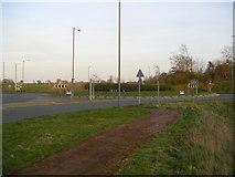 SP6633 : Tingewick A422 Roundabout by Mr Biz