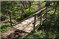 SP6631 : Footbridge on the edge of Lenborough Wood by Martin Loader