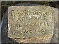 SD9734 : Close Up of Stone Tablet on Rock Beside the Pennine Way. by Steve Partridge