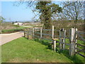SP8728 : Public Footpath Stile by Mr Biz