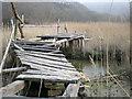 SH6415 : Old wooden bridge. by Hefin Richards