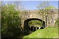 SP7427 : Railway bridge (disused) and road bridge over Claydon Brook by Mel Braithwaite