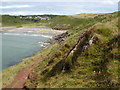 SS0597 : Manorbier Bay and castle by Chris Gunns