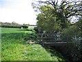 SJ4355 : Footpath and Bridge Stile by John S Turner