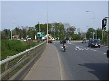 TG1510 : Roundabout at A47/A1074, Longwater Intersection by Ian Robertson
