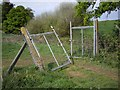 SJ7047 : Entrance to enclosure in field by Ian Bottomley