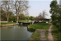 SU2764 : Lock No 64 and Bedwyn Church Bridge, Kennet and Avon Canal by Dr Neil Clifton