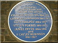 TQ2480 : Blue Plaque on Lansdowne House by Danny P Robinson
