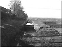ST9861 : Looking down Caen Hill locks in 1977 by Dr Neil Clifton