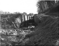 ST9861 : The derelict Caen Hill flight in 1977 by Dr Neil Clifton