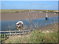 TF9844 : Creek winding through Stiffkey Salt Marshes by Pauline Eccles
