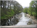 SD8072 : The River Ribble from the Footbridge at Horton in Ribblesdale by John S Turner
