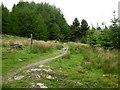 SD7422 : Footpath off Rossendale way, Calf Hey Reservoir by liz dawson