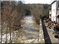SO5174 : River Teme at the Ludford Bridge by Trevor Rickard