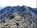 NG4422 : The Cuillin ridge at Sgurr na Banachdich by John Allan