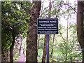 SE0838 : Notice sign, Coppice Pond by Joe Regan