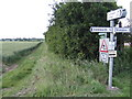 TL1157 : Bridleway north from Mill End by Jonathan Billinger