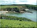 SM7323 : Porthlysgi Bay and beach by Robin Lucas
