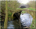 SE4006 : Pack horse bridge over river Dearne Storrs Mill Cudworth by Steve  Fareham