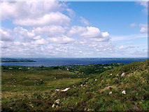 G1803 : The Foxford Way above Attiappleton, looking north to Lough Conn by Liz McCabe