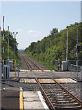 G2504 : Level Crossing at Foxford station by Liz McCabe