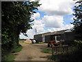 TL2777 : Farm buildings on track from Lodge Farm by Tim Heaton