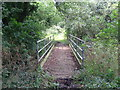 TL0663 : Footbridge over stream by Les Harvey