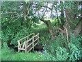 SJ8069 : Bridge over Red Lion Brook by David C Brown