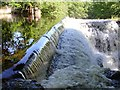 SJ0612 : Weir at Dolanog by Penny Mayes