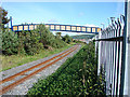 SN5881 : Footbridge Over The Railway by John Lucas