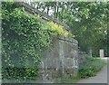 NJ6202 : Old railway bridge abutment by Stanley Howe