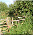 SE4006 : Stile near Tyers Hall. by Steve  Fareham