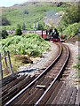 SH6844 : Ffestiniog Railway above station by rob bishop
