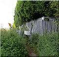 SE4203 : Footpath adjacent to sewage works. by Steve  Fareham