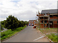 SE4003 : New houses on what was the road to Wombwell railway station. by Steve  Fareham