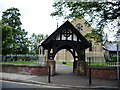 SD6505 : Lychgate, St Bartholomew Parish Church of Westhoughton by Alexander P Kapp