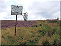 SE0437 : Brow Moor access sign by David Spencer