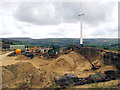 SE0336 : Naylor Hill Quarry, wind turbine and cellphone base by David Spencer